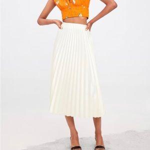 Zara long pleated skirt